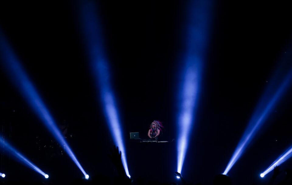 Septiembre 19 de 2014. Bogotá, Colombia. Paris Hilton deleitó a sus seguidores en su show como DJ donde Natalia París (Foto) fue la encargada de comenzar la fiesta. (Colprensa - Mauricio Alvarado)