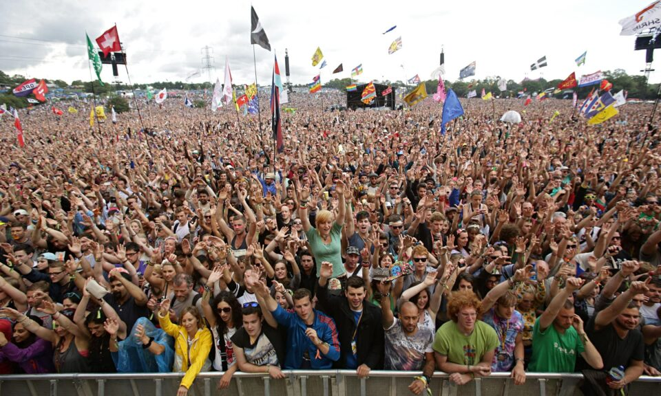 Glastonbury crowd
