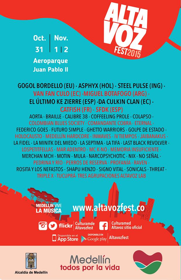 Cartel oficial Altavoz Fest 2015.