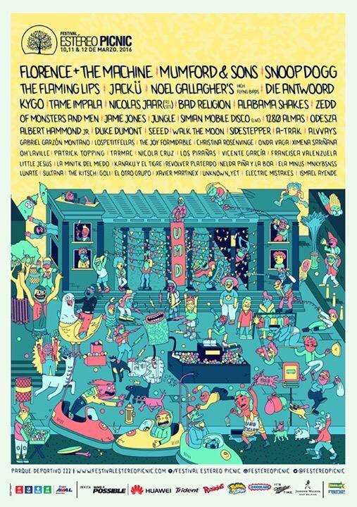 Cartel Oficial Festival Estéreo Picnic 2016.
