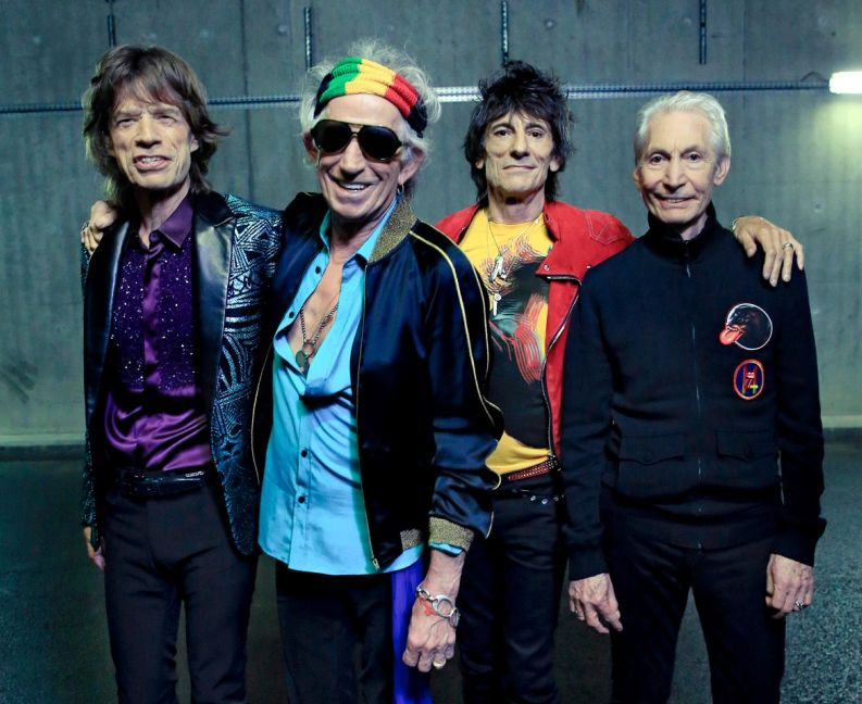 Mick Jagger, Keith Richards, Ronnie Wood y Charlie Watts.