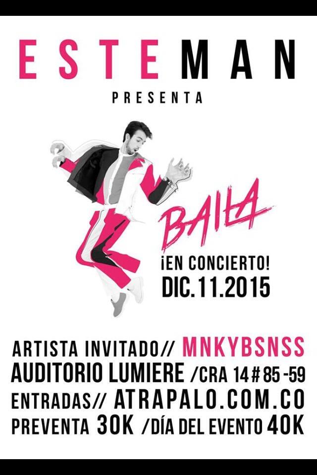Toda la información del concierto de Esteman este 11 de diciembre en Bogotá. Foto: Oficial