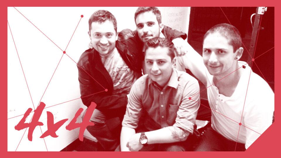 4x4 son: Iván Quintero: voz y guitarra, Marco de Barros: guitarra, David Ángel: bajo y Sebastián Ortiz: batería.
