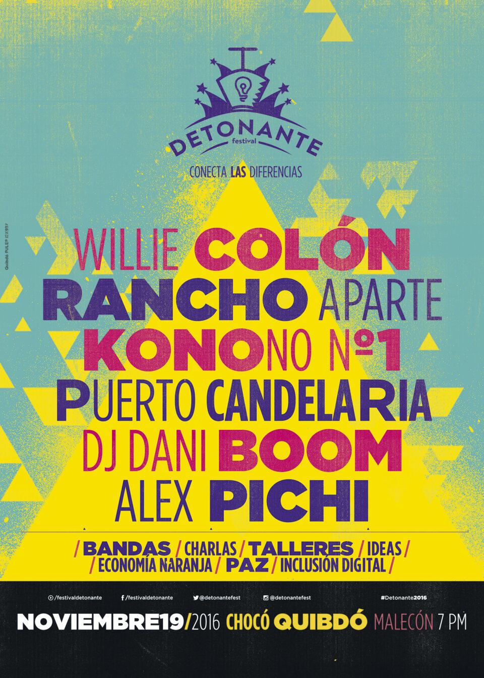 Este es el cartel del Festival Detonante en Quibdó. Foto: Oficial